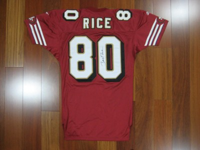 Jerry Rice REEBOK jersey MEDIUM SIGNED AUTOGRAPHED PRO Line