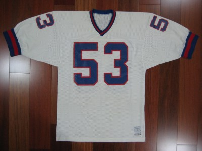 1980s Authentic Giants Harry Carson jersey Sand-Knit Large PRO ...