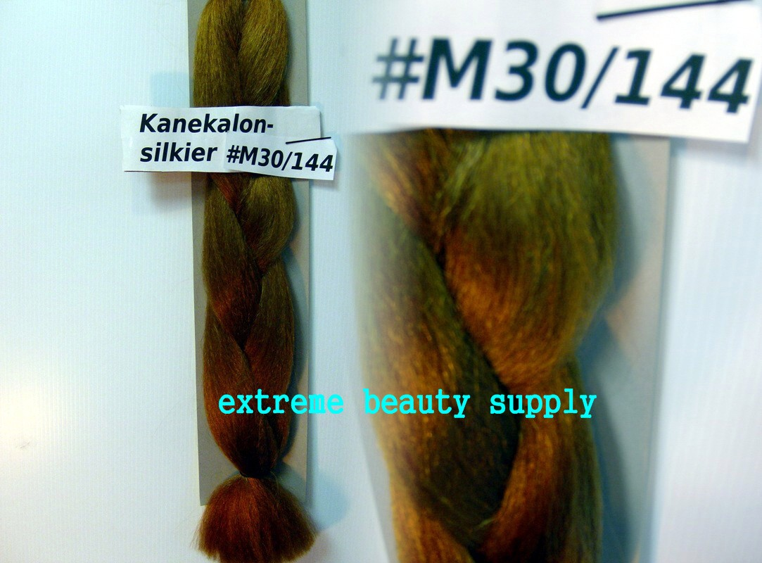 Details About Silky Kanekalon Braid Hair Dreadlock Gold Brown 30144