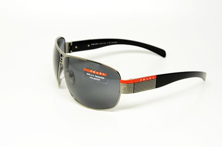 8db3784aea1d2 PRADA SPORT SPS 50H 5AV 5Z1 SUNGLASSES GUNMETAL METAL GREY POLARIZED ...