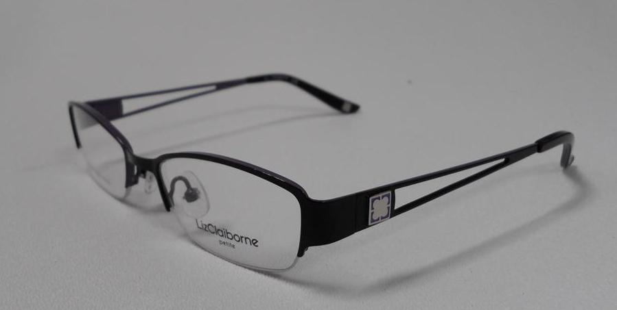 Liz Claiborne 417 Ofm4 S 46 Eyeglasses Black Orchid Metal