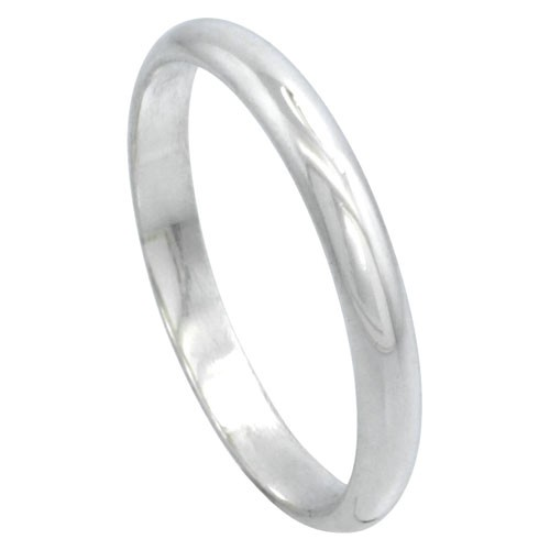 Solid Sterling Silver Band Comfort Fit Ring Genuine 925
