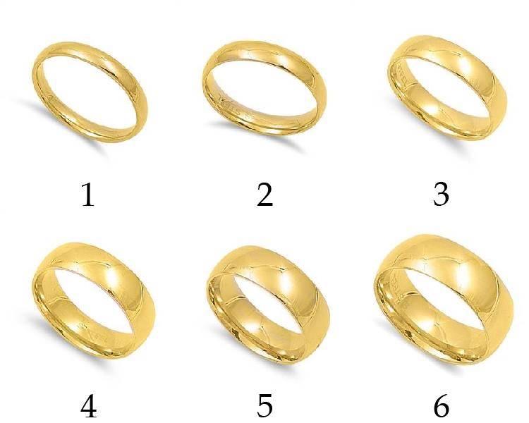 Beautiful new wedding rings Plain gold wedding ring