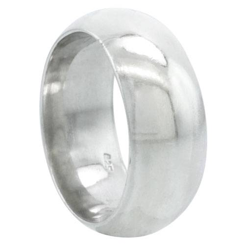 Solid Sterling Silver Band Comfort Fit Ring Genuine