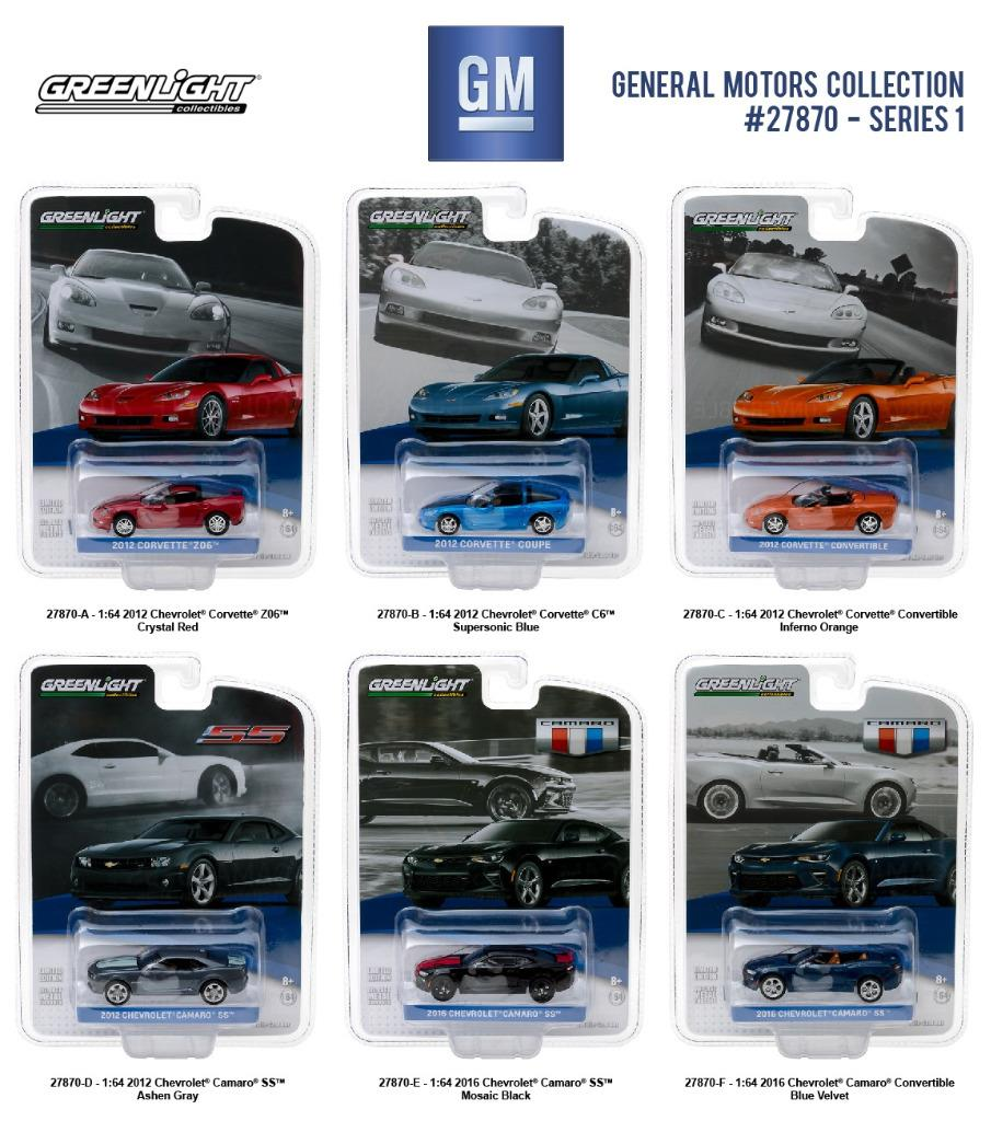 Greenlight 27870 general motors collection series 1 set of for General motors cars brands