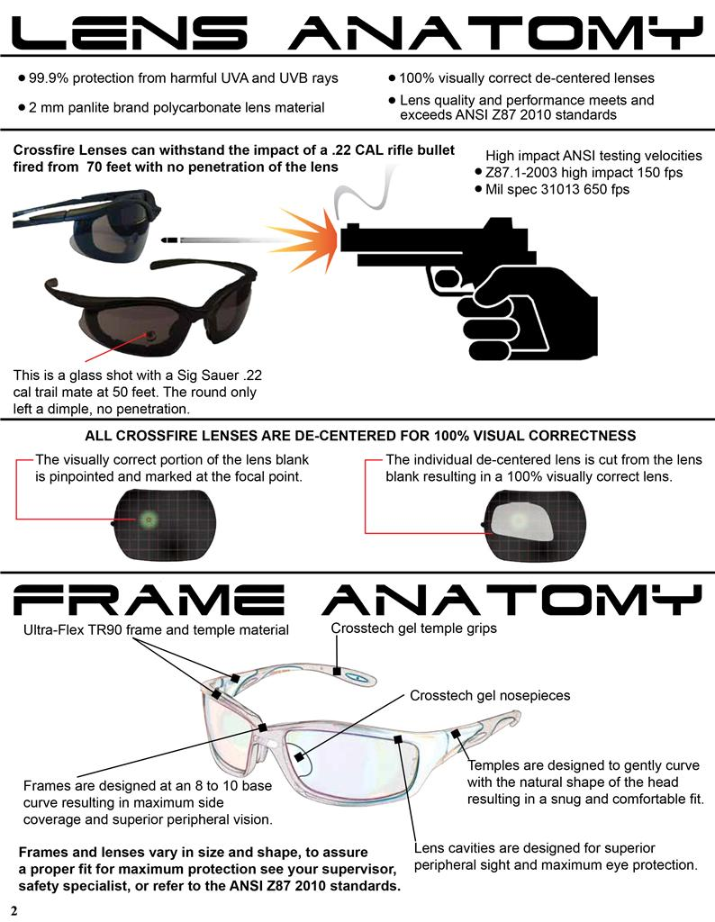 7c05849cc0b Crossfire Sniper Clear Lens Matte Black Safety Glasses Shooting ...