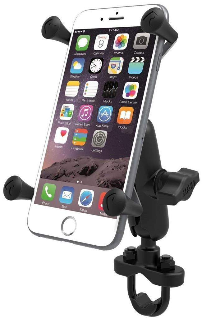 motorcycle iphone mount ram mount motorcycle handlebar rail mount x grip cell 12659
