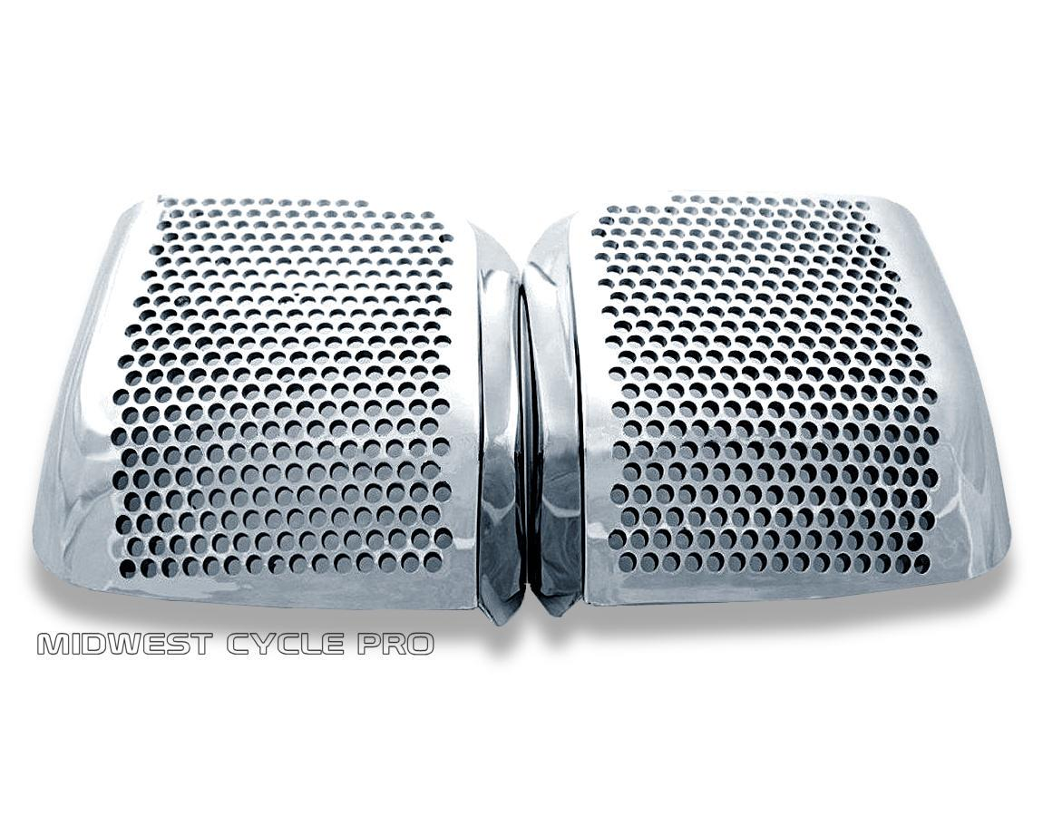 Show Chrome Rear Speaker Grille Accents for /'88-/'00 Honda Goldwing GL1500