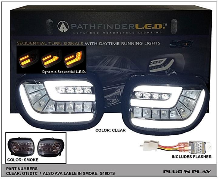 Pathfinder Led Sequential Turn Signal Kit For Honda Gl1800
