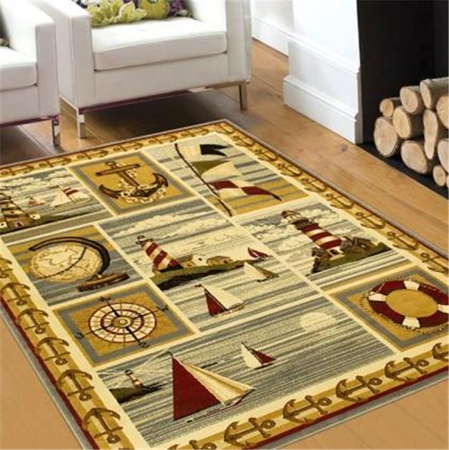 Wilderness Nautical Theme Lodge Mat Rug Sail Boats