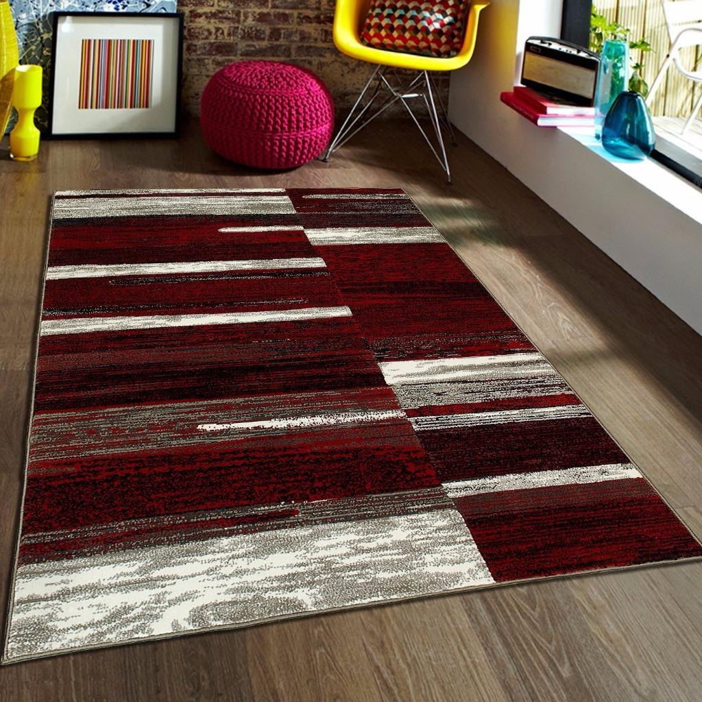 Trendz Contemporary Geometric Pattern Abstract Modern Area Rug
