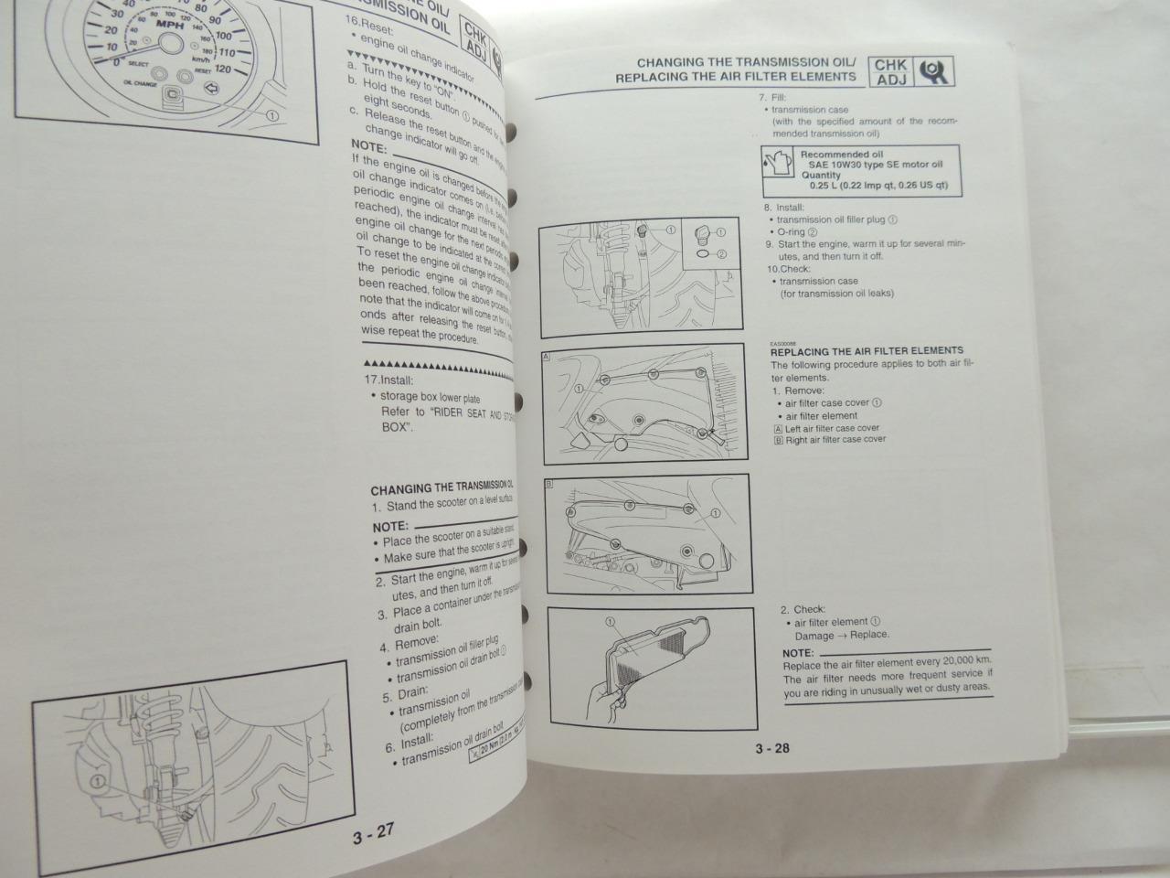 2004 Yamaha Yp400t Service Manual Workshop Book B6547