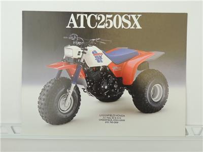 NOS 1986 Honda ATC200S ATC 200 Dealer Brochure L1084
