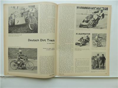 March 1964 CYCLE WORLD Magazine Two-Stroke Parilla Road Racer Scrambler L7779