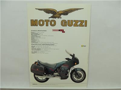 1993 Moto Guzzi 1000 Strada Daytona California SP III Brochure Literature L9691