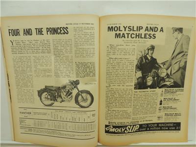 Vintage Oct 1962 AMERICAN MOTORCYCLING Magazine Markel Triumph Yamaha L3714