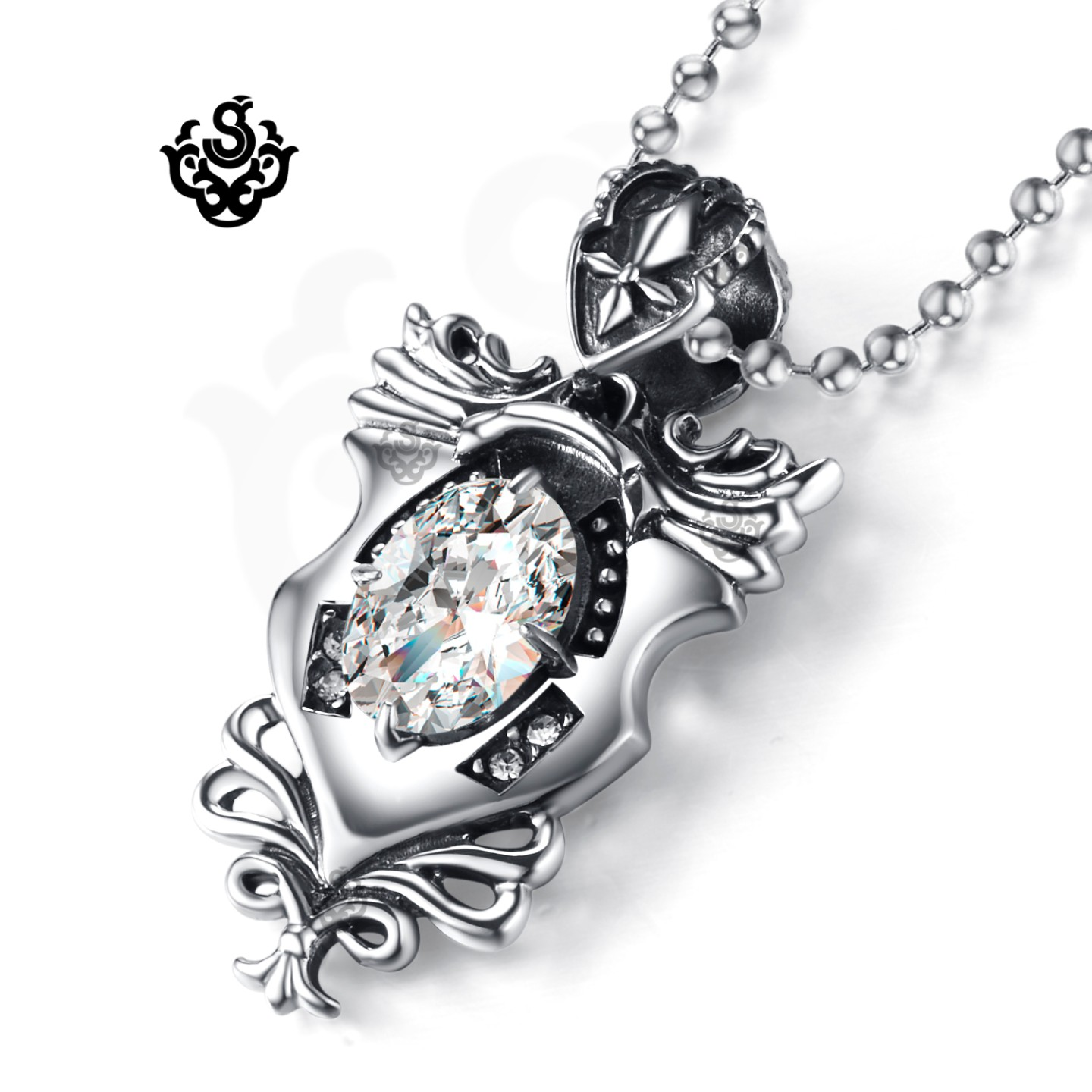 diamond dancing silver jewelry heart niomi limited women main p simulated peacock en stone hktv fashion star international sterling s necklace jewellery