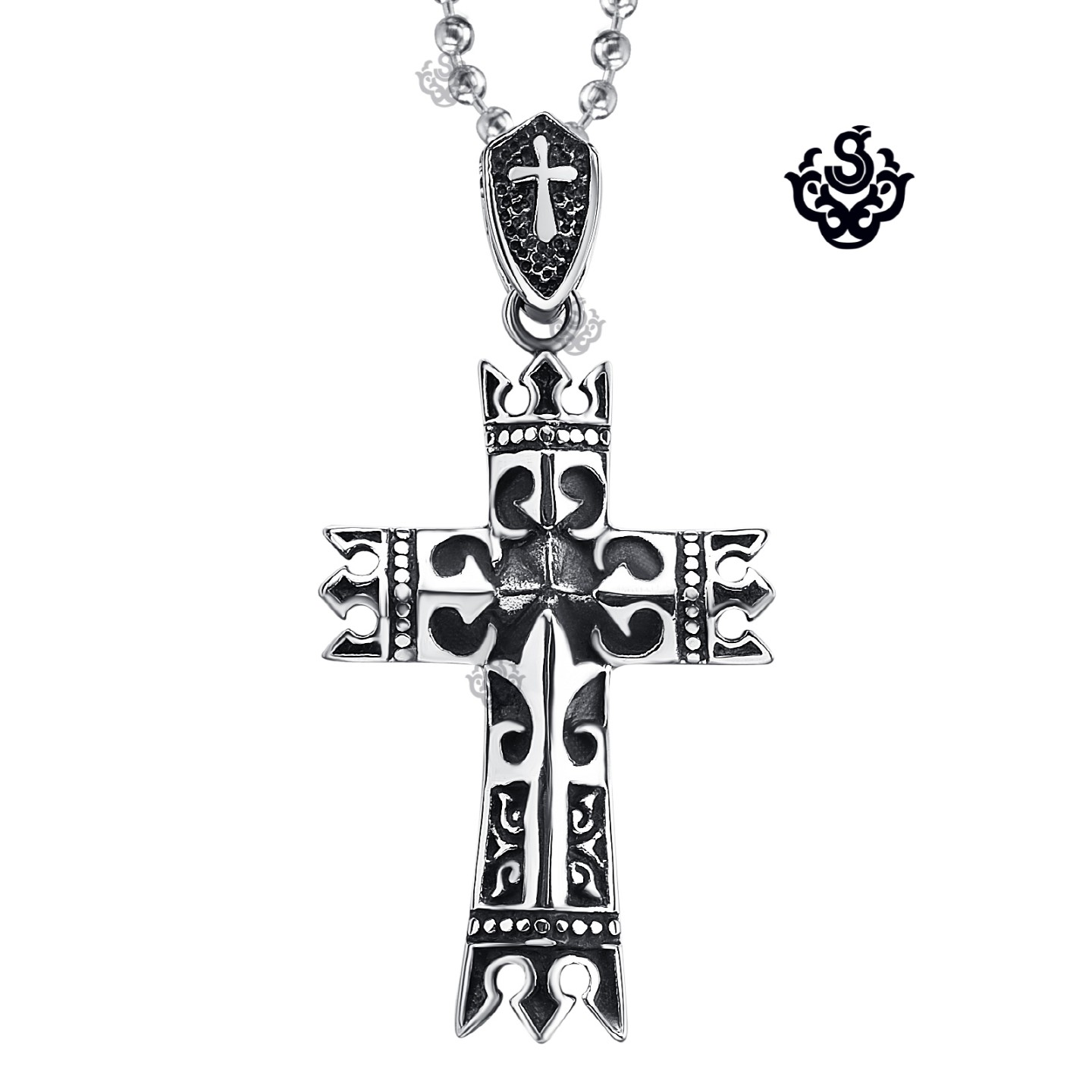 Silver celtic cross pendant stainless steel vintage style necklace silver celtic cross pendant stainless steel vintage style necklace soft gothic aloadofball Images