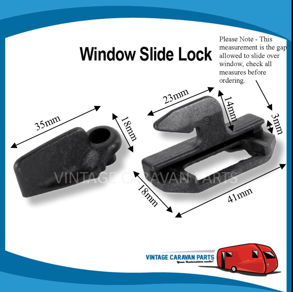 Wind Out Window Slide Lock Lever ( BLACK X 10 ) W0121