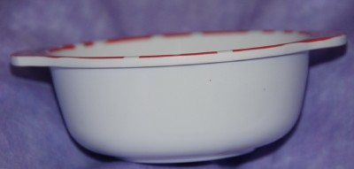 Disney Mickey & Minnie Mouse Red   Soup Bowl 4.25