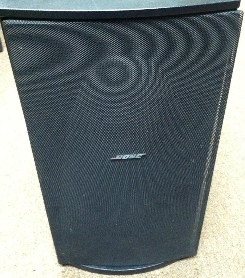 used bose ps48 powered speaker system sub woofer lifestyle black ebay. Black Bedroom Furniture Sets. Home Design Ideas
