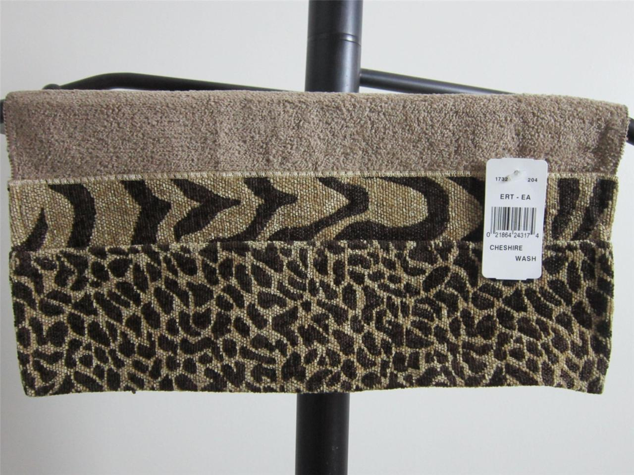 New Avanti Cheshire Animal Print Washcloth Hand Towel Or