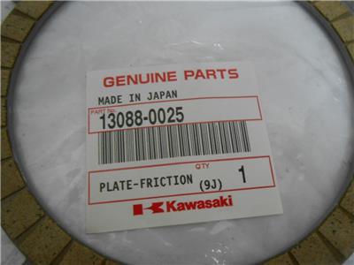 OEM Kawasaki Ninja ZX-6R ZX600 Clutch Friction Plate 13088-0025 07-12