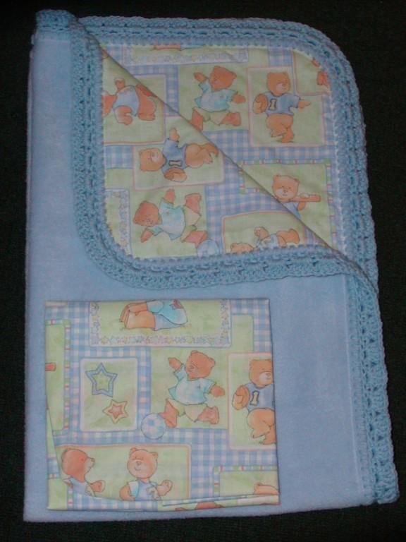 Crib Quilt Cotton Crib Sheet Handcrafted Teddy Bear