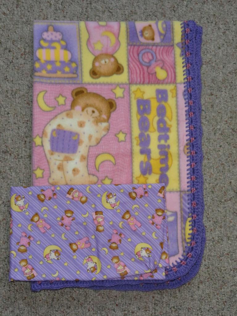 Crib Blanket Cotton Crib Sheet Bedtime Bear Patches