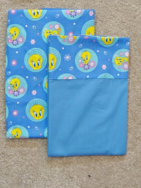 Crib Toddler Sheet 2pc Set Cotton Handmade Tweety Bird