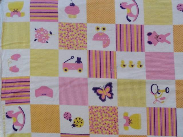 NURSERY TOYS PATCHWORK 4 COLORS CRIB SHEET//FITTED// FLANNEL//HANDMADE