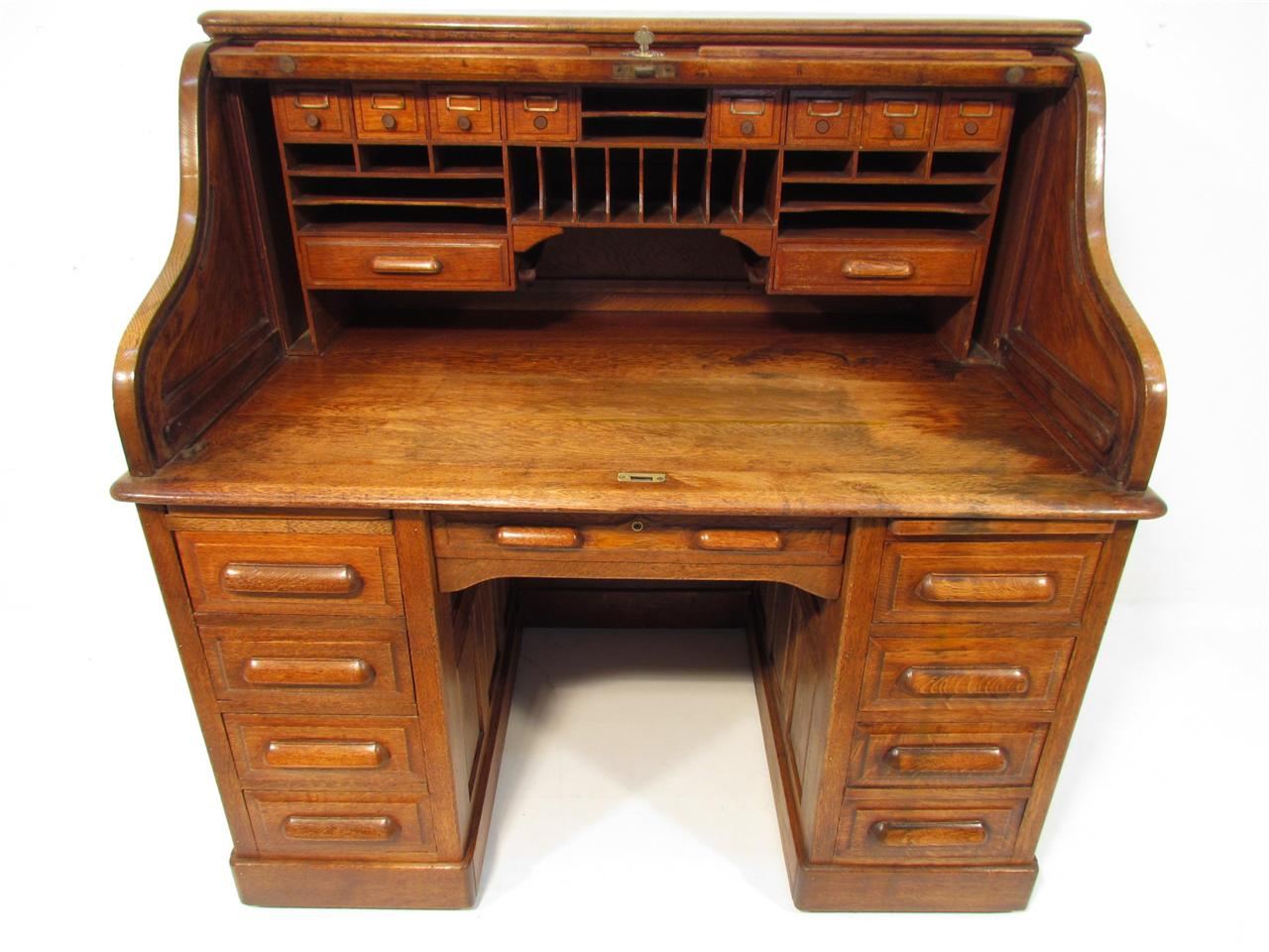 antique golden oak roll top desk c 1910 ebay 87975