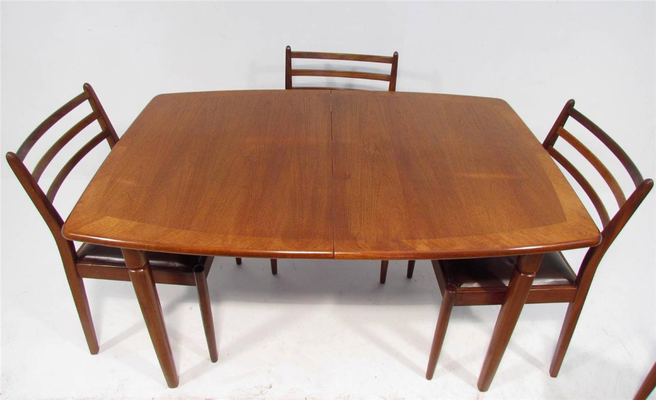 A Good Retro Teak Dining Table And Six Chairs by G Plan | eBay