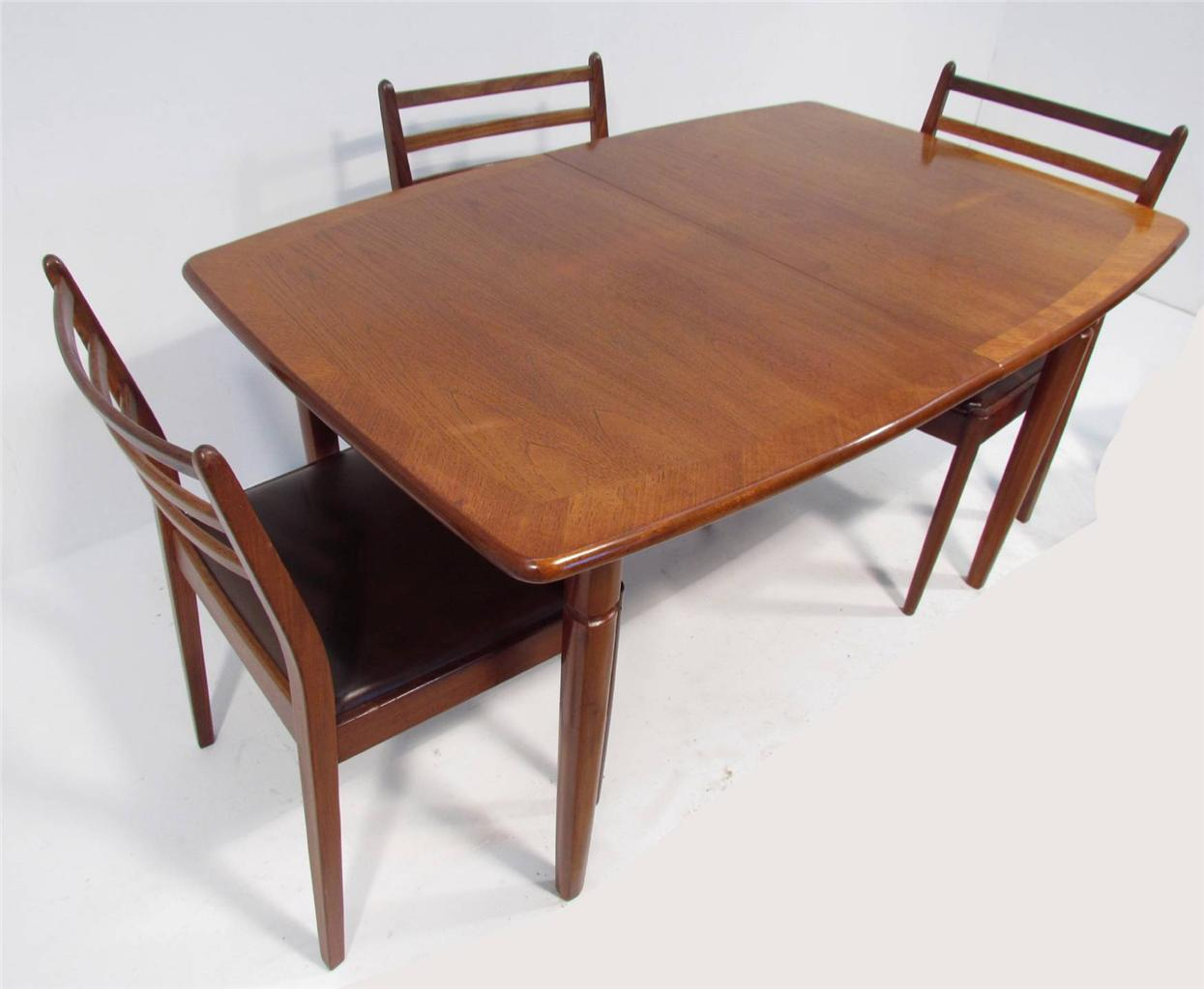 a good retro teak dining table and six chairs by g plan ebay. Black Bedroom Furniture Sets. Home Design Ideas