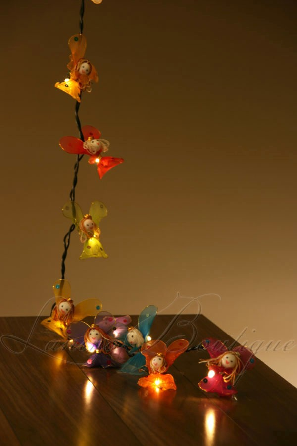 20 X Flower Fairy Angels Battery Powered Led String Fairy