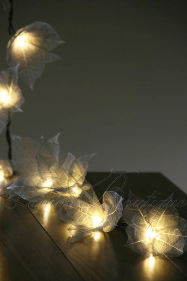 20 Silver Star Flower Led 4m String Fairy Lights Lanterns