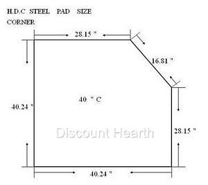 36 Quot 40 Quot 48 Quot 54 Quot Wood Pellet Stove Board Hearth 2 4 R Value