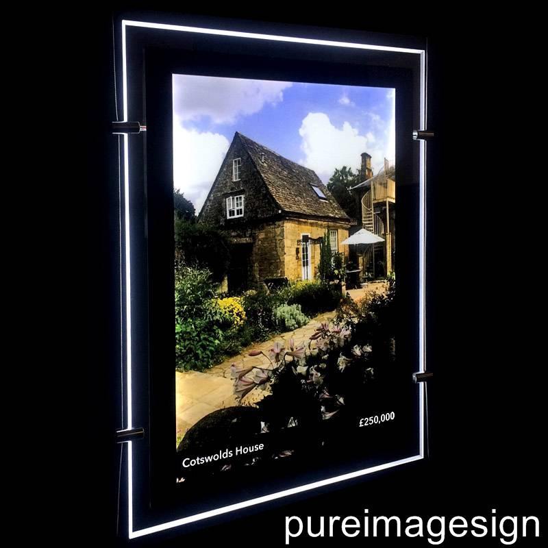magnetic front panel single sided led light pocket led window display led light panel a4 a3 a2 a1