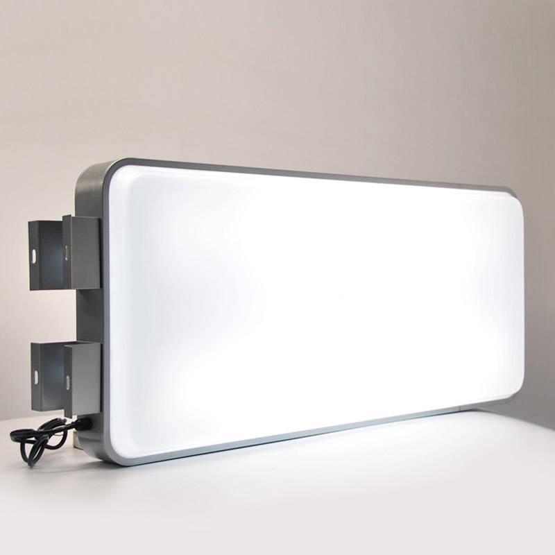 "Exterior Led Light Box: 45x100CM 18""x40"" Rectangular Outdoor Illuminated"