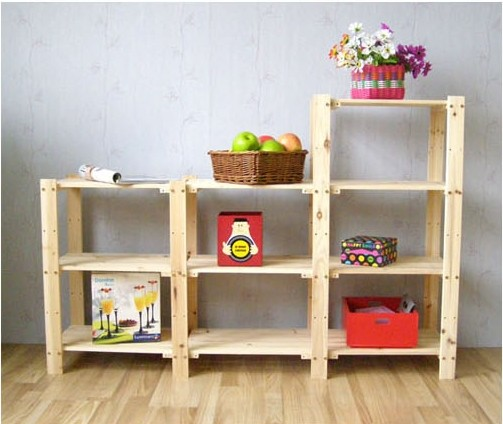 holzregal mit 7 k rben aus maisgeflecht standregal kinderregal korbregal regal ebay. Black Bedroom Furniture Sets. Home Design Ideas