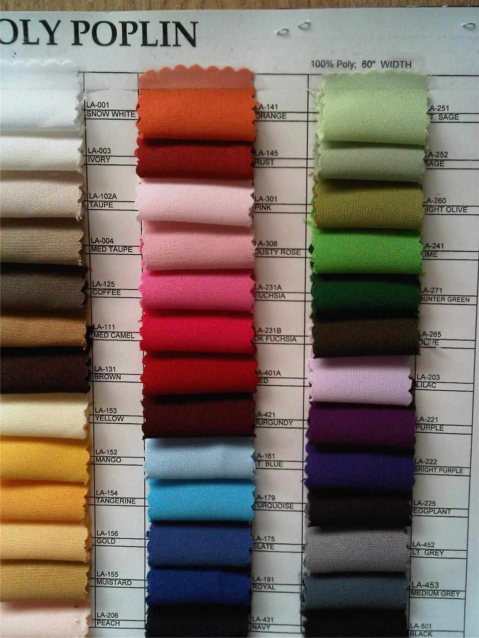 100 Yards 59 60 Quot Polyester Poly Poplin Fabric 60 Colors Ebay