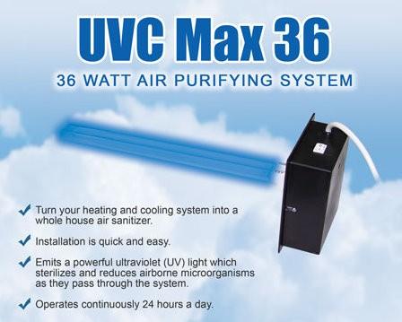 Uvc Max36 Air Purifying System Uv Light For Furnace Ac Ebay