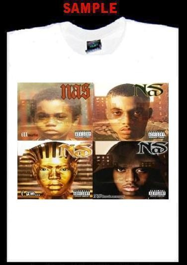 7aabd26a NAS ALBUM COVERS CUSTOM T SHIRT TEE rap hip hop T114 on PopScreen
