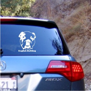 English Bulldog Dog Decal Sticker   Car Truck Laptop