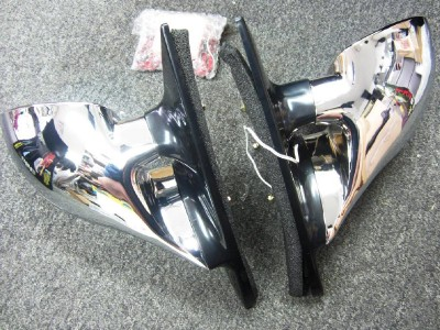 1992-1995 Honda Civic 2 AND 3 Door M3 Mirrors Chrome Finish Amber Signal Light