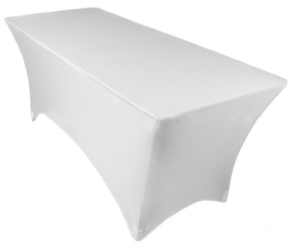 6ft Fitted Spandex Lycra Table Cloth Fitted Trestle
