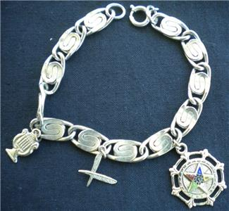 Eastern Star Charm Bracelet Vintage Masonic Oes