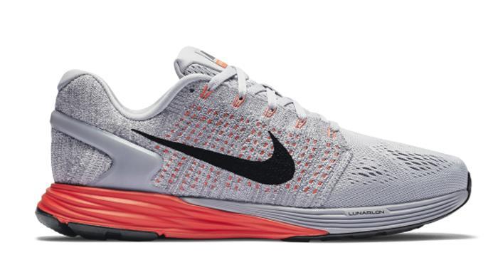 Mens Gray Nike Lunarglide  Shoes