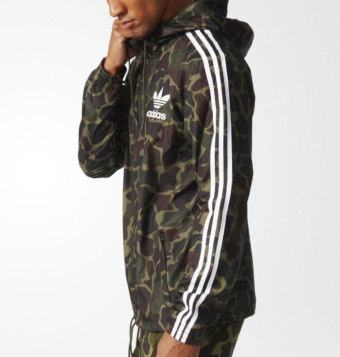 1701 adidas originals camouflage men 39 s windbreaker hoodie jacket bj9997. Black Bedroom Furniture Sets. Home Design Ideas