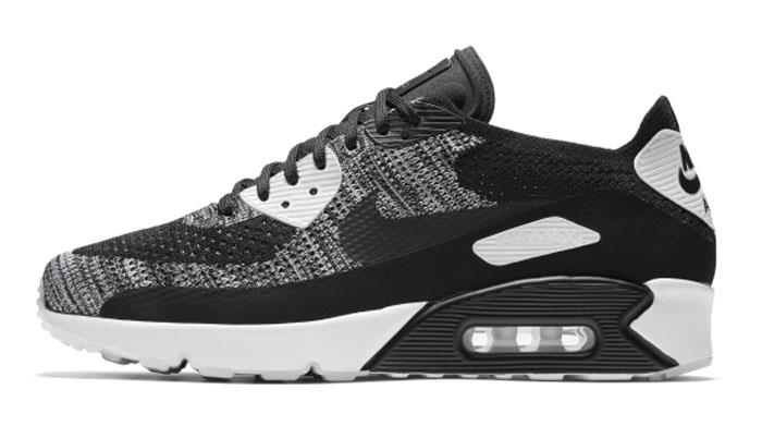 4ad0dbade6b 1703 Nike Air Max 90 Ultra 2.0 Flyknit Men s Sneakers Running Shoes 875943- 001